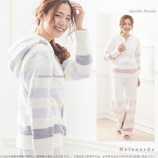 Jennifer Pamela Helenarda ヘレナーダ グラデーション ボーダー もこもこ ルームウェア パーカー 長袖 上下セット ジェニファーパメラ