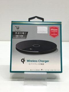 【Qi充電】置くだけで充電!ワイヤレス充電 急速充電対応 スマートフォン汎用【+U】