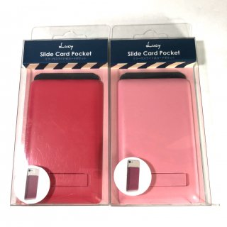 【Lucy】ミラー付きカードポケット スマートフォン(汎用)