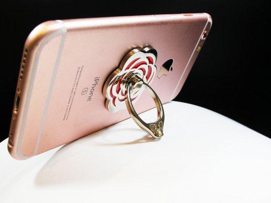スマホリング「Grip Ring」【Flower】スマホ落下防止 スタンド機能付 商品画像