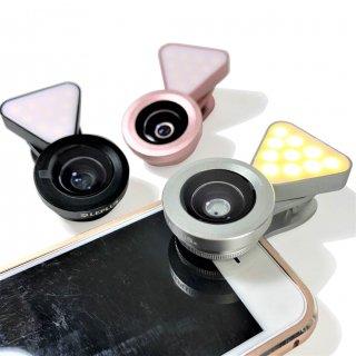 クリップ式自撮りライトレンズ 「Tolka -トルカ-」 USB充電式ライト付き