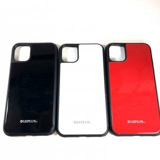 【iPhone 11】 背面ガラスシェルケース「SHELL GLASS」ブラック・ホワイト・レッド