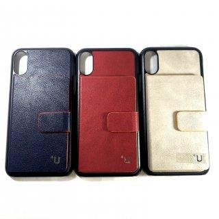 【iPhone X/XS】 カード収納ポケット付 PUケース