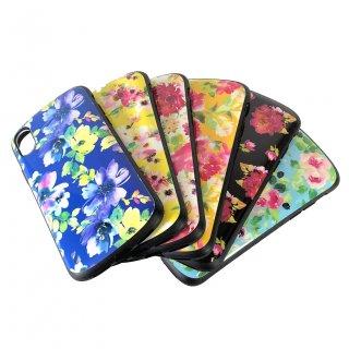 【iPhone X/XS】耐衝撃ハイブリッドケース「PALLET Design(花柄)」