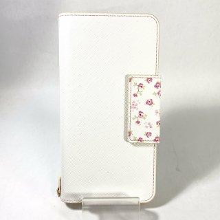 【iPhone 8Plus/7Plus】 フラワー柄ブックケース「Bouquet」