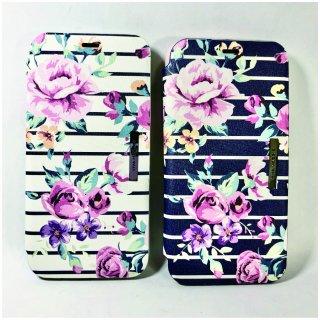 【iPhone X/XS】薄型PU手帳型ケース Primavera Collection