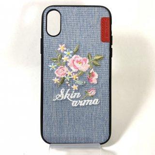 【iPhone X/XS】ハンドメイド刺繍シェルケース Wildling Collection