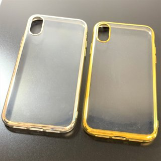 【iPhone XR】  剛柔ソフトケース メタルクリア