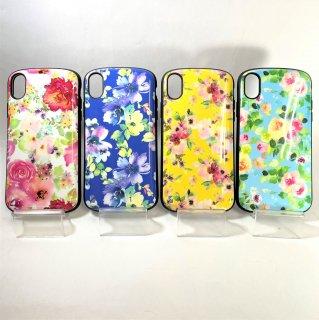 【iPhone XR】  耐衝撃ハイブリッドケース「PALLET Design(花柄)」