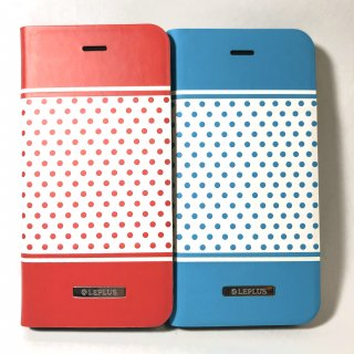 【iPhone 6/6s】 デザインPUレザーカバー「DOT」