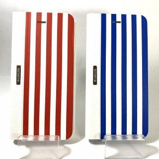 【iPhone 6 Plus/6s Plus】 デザインPUレザーカバー「STRIPE」