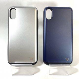【iPhone X/XS】Slide式カード収納ハイブリットケース「Kyle」【+U】