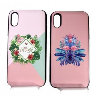 【iPhone X/XS】ミラー付カード収納ハイブリットケース【Lucy】