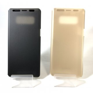 【Galaxy Note8】透明フラップケース「TOUCH FLAP」【SC-01K/SCV37】