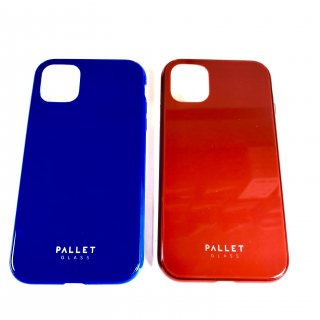 【iPhone 11 Pro】 ガラスハイブリッドケース「SHELL GLASS COLOR」ブルー・レッド