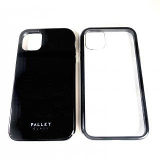 【iPhone 11 Pro】 ガラスハイブリッドケース「SHELL GLASS COLOR」 ブラック・クリアブラック