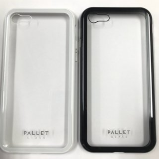 【iPhone 8/7 (SE2対応)】ガラスハイブリッドケース「PALLET GLASS」クリアタイプ