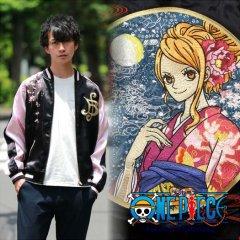 OPSJ-011 桜花とナミ刺繍スカジャン ONE PIECE × Switch Planning