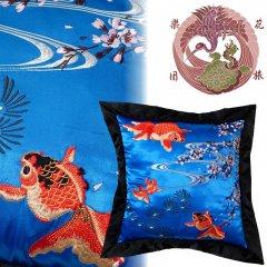 ESC-003 桜と金魚刺繍クッション