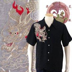 SS-003  龍刺繍ジャガードシャツ