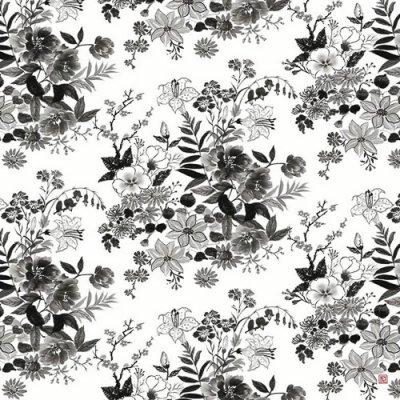 超撥水ふろしき ながれ 雪月花「花」