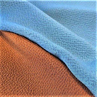 正絹無地 万葉の色 青・久木セット