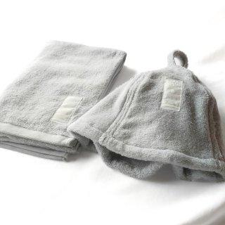 【LOVE SAUNA】サウナセット サウナハット+スリムバスタオル