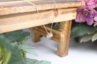 ナチュラルダイヤモンド・非加熱サファイヤ10Kネックレス ☺パステルマルチカラー☺