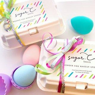 [sugar.C beauty]WONDER EGG MAKE UP SPONGE 3個入ギフトBOX
