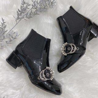[Sucre bonbon]Pearl short boots