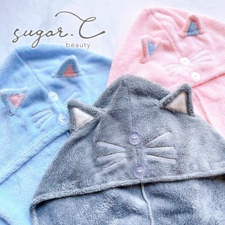 [sugar.C beauty] CAT QUICK DRY HAIR TOWEL   キャット 速乾ヘアタオル