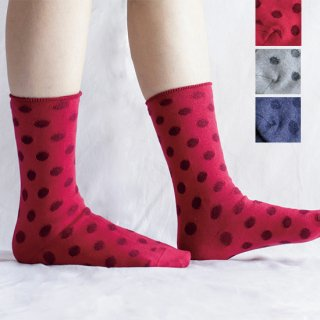 Cotton Linen Small Dot Socks