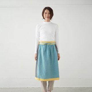 エプロンスカート apron skirt(ブルー)