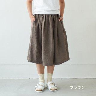【セミオーダー】リネンイージーギャザースカート(ショート)