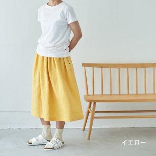 【セミオーダー】リネンイージーギャザースカート(ミドル)