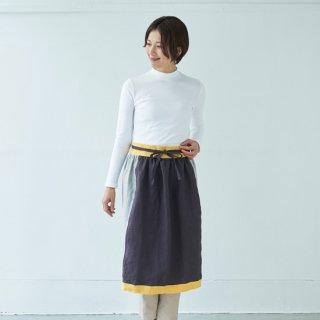 エプロンスカート apron skirt(パープル)