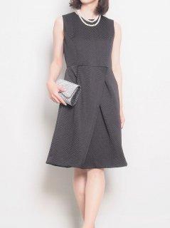 ビックヘリンボーンドレス(ブラック)【DR0239】
