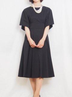 ミモレ丈ドレス(ブラック)【DR0423】