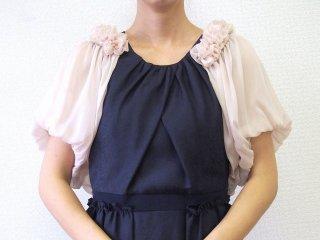 シフォンバルーンボレロ(ピンク)【BR0209】