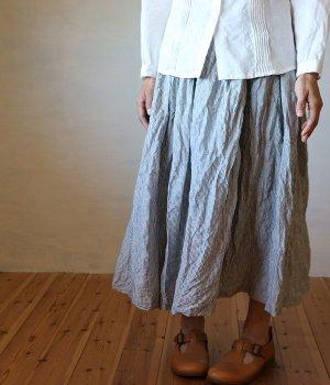 ギャザースカート:ストライプ