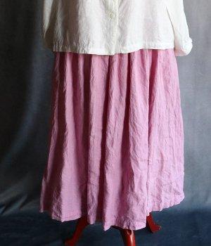 草木染ギャザースカートピンク#2009