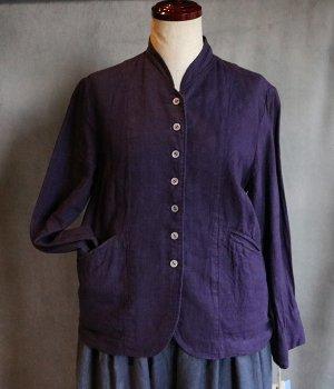 専用ページ草木染リネンジャケット:紫