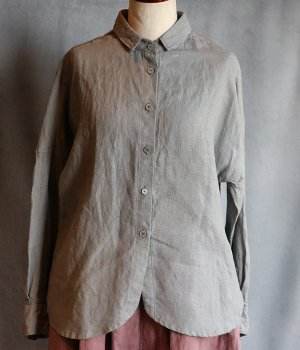草木染ドロップシャツグレー#2033