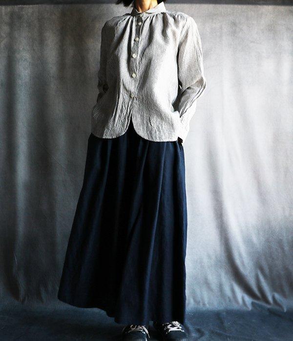 リトアニアリネンスカート紺