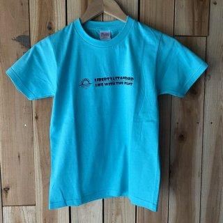 キッズTシャツ アクアブルー  140サイズ