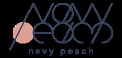 navy peach