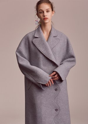 skyblue curved coat