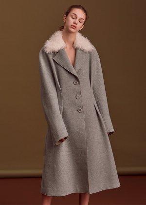 mint cashmere coat