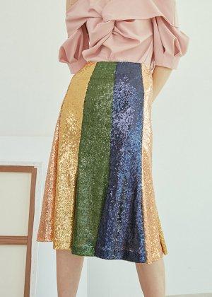 rainbow spangle skirt