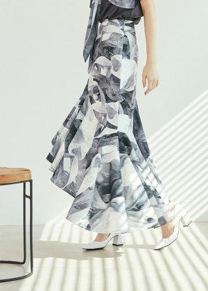 grey rainbow frill skirt